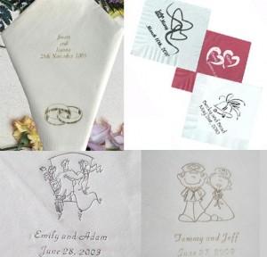 Papierowe serwetki weselne