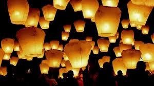 latające lampiony weselne